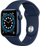 Купить Apple Watch Series 6 GPS 40mm Aluminum Case with Sport Band Blue/Deep Navy (РСТ)