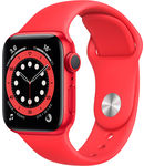 Купить Apple Watch Series 6 GPS 44mm Aluminum Case with Sport Band Red (РСТ)